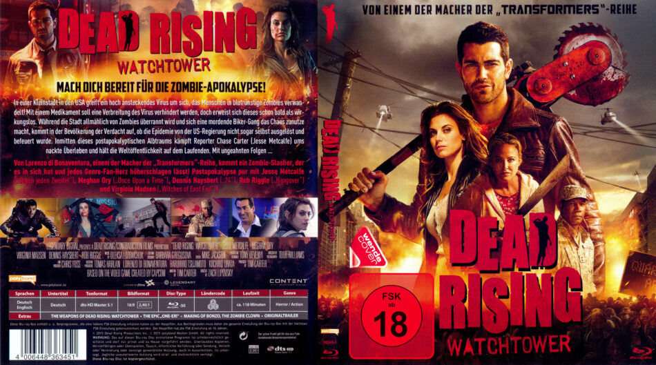 Dead Rising Watchtower Blu Ray Cover Label 2015 R2 German