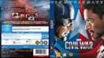 Captain America Civil War (2016) R2 Blu-Ray Nordic Cover
