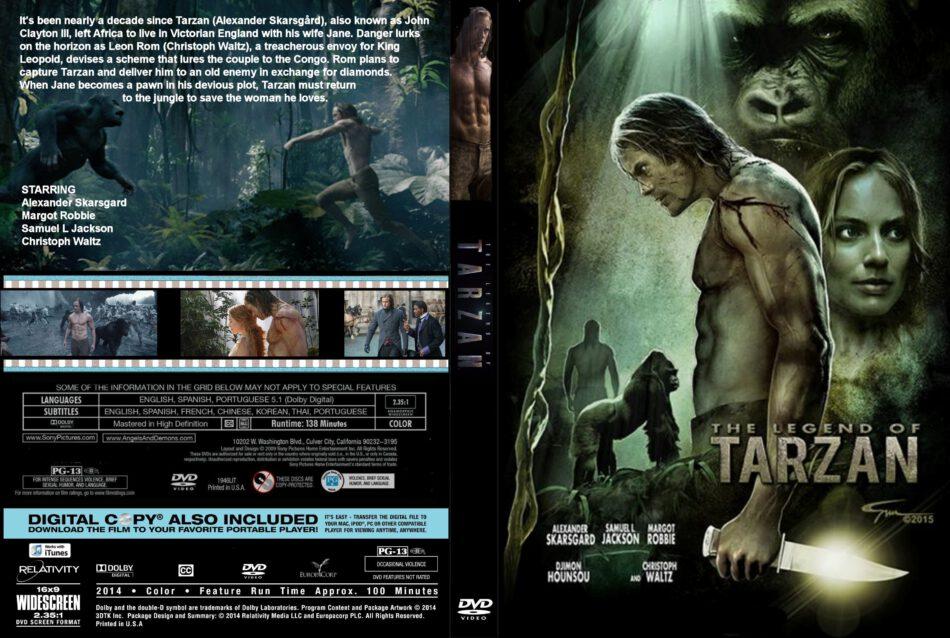The Legend Of Tarzan Dvd Cover Label 2016 R0 Custom