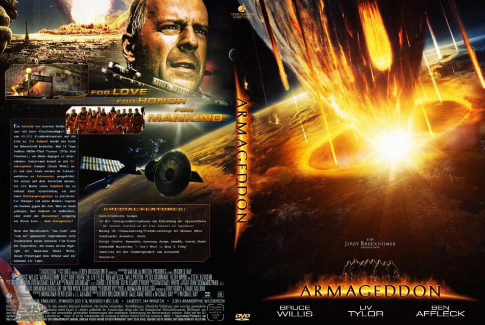 Armageddon Dvd Cover Label 1998 R2 German