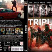Triple 9 (2016) R2 Custom DVD Czech Cover
