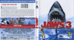 Jaws 3 (1983) R1 Blu-Ray Cover & label