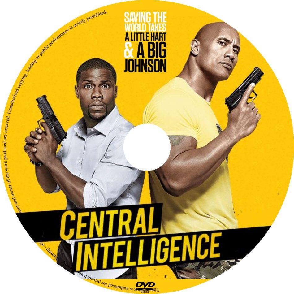 Central Intelligence Dvd Label 2016 R0 Custom