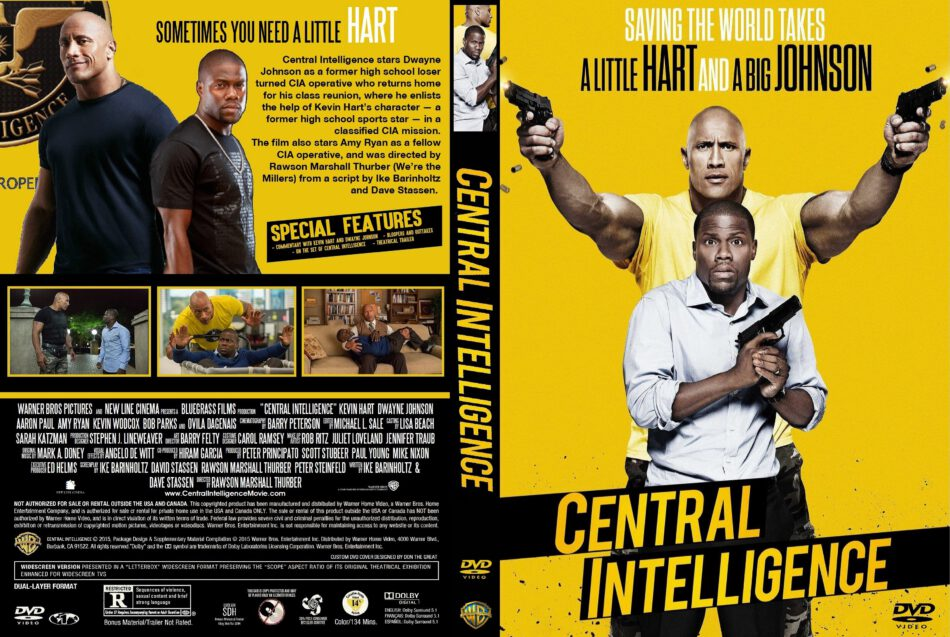 Central Intelligence Dvd Cover 2016 R1 Custom
