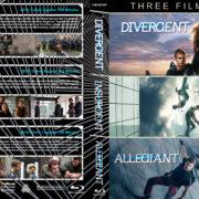 Divergent / Insurgent / Allegiant Triple Feature (2014-2016) R1 Custom Blu-Ray Cover