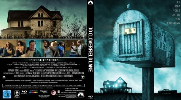 10 Cloverfield Lane (2016) R2 German Custom Blu-Ray Cover & Label