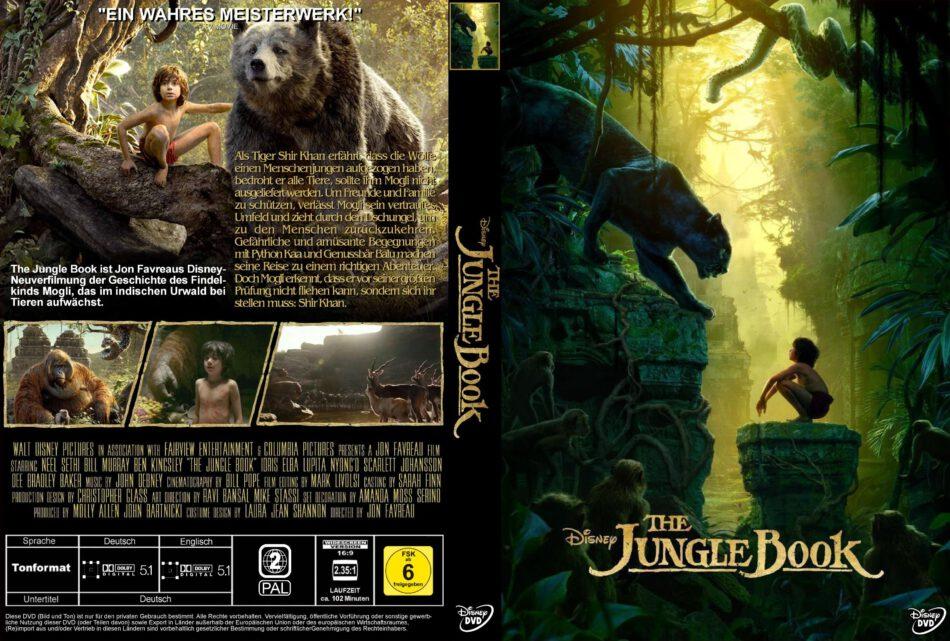 The Jungle Book Dvd Cover 2016 R2 German Custom