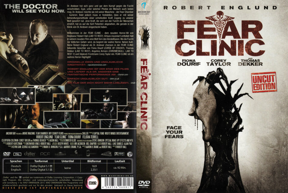 Fear Clinic Dvd Cover Label 2015 R2 German
