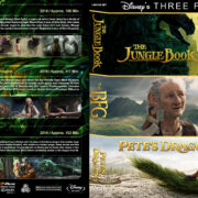 The Jungle Book / The BFG / Pete's Dragon Triple Feature (2016) R1 Custom Blu-Ray Cover