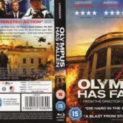 Olympus Has Fallen (2013) R2 Blu-Ray Cover & Label