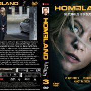 Homeland: Season 5 Volume 1 (2015) R0 Custom Cover & labels