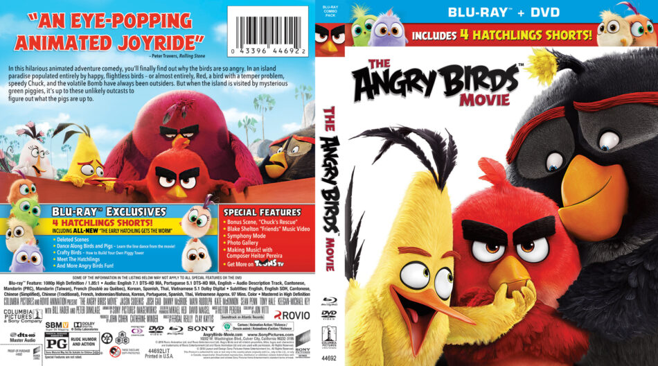 The Angry Birds Movie Blu Ray Cover 2016 R1