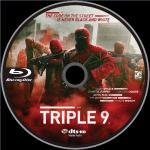 Triple 9 (2016) R1 Blu-Ray Label