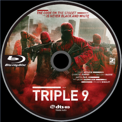 Triple 9 (2016) R1 Blu-Ray Label