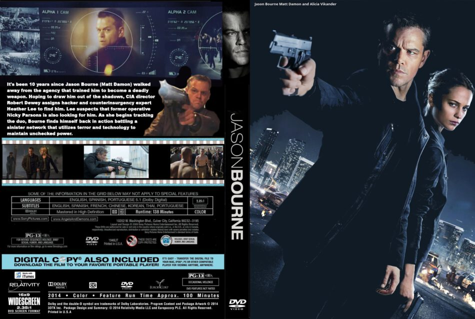 Jason Bourne Dvd Cover And Label 2016 R0 Custom