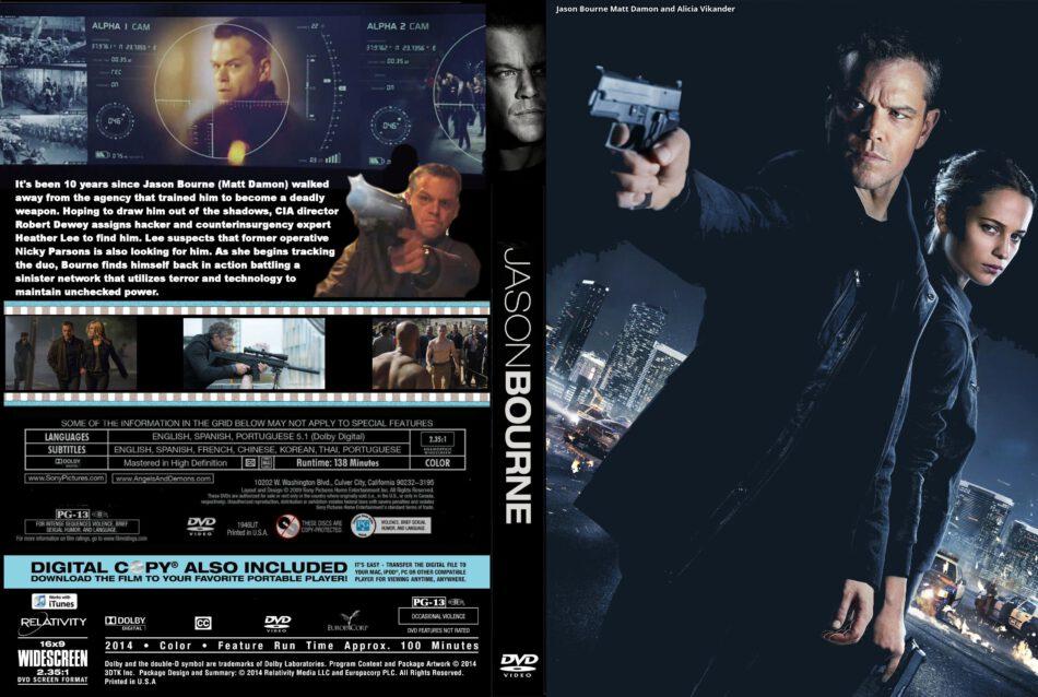Jason Bourne Dvd Cover And Label 2016 R0 Custom