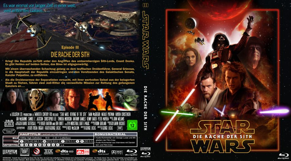 Star Wars Episode Iii Die Rache Der Sith Blu Ray Cover 2005 R2 German