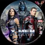 X-Men Apocalypse (2016) R2 German Custom Blu-Ray Label