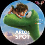 Arlo & Spot (2015) R2 German Custom Blu-Ray Label