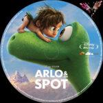 Arlo & Spot (2015) R2 German Custom Blu-Ray Label