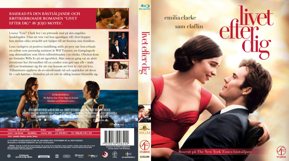 Me Before You Dvd Cover 2016 R2 Nordic