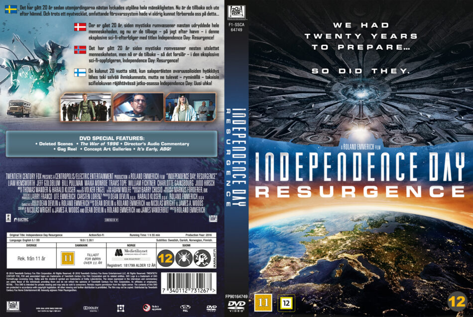 Independence Day Resurgence Dvd Cover 2016 R2 Nordic