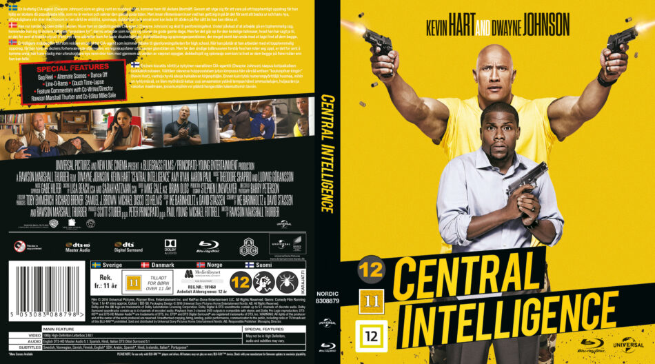Central Intelligence Blu Ray Cover 2016 R2 Nordic