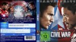 Captain America – Civil War (2016) R2 German Custom Blu-Ray Covers & Label