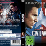 Captain America – Civil War (2016) R2 German Custom Cover & Labels