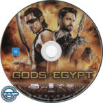 Gods of Egypt (2016) R4 DVD Label
