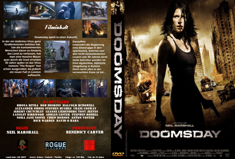 Doomsday Tag Der Rache Dvd Cover Label 2008 R2 German Custom