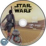 Star Wars: The Force Awakens (2015) R4 DVD Label