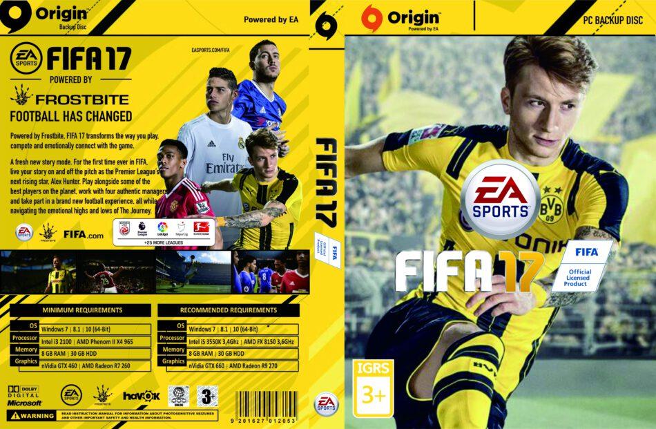 FIFA 17 dvd cover (2016) Custom PC