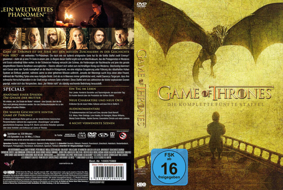 Game Of Thrones Staffel 5 Dvd