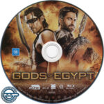 Gods of Egypt (2016) R4 Blu-Ray label