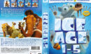 Ice Age 1-5 (2016) R2 DVD Swedish Cover