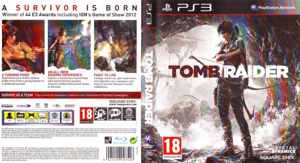 Tomb Raider (2013) PS3 German Cover & Label