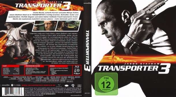 Transporter 3 (2008) R2 German Blu-Ray Cover & Label