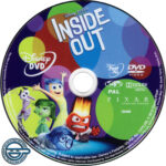 Inside Out (2015) R4 DVD label