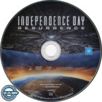 Independence Day: Resurgence (2016) R4 DVD Label