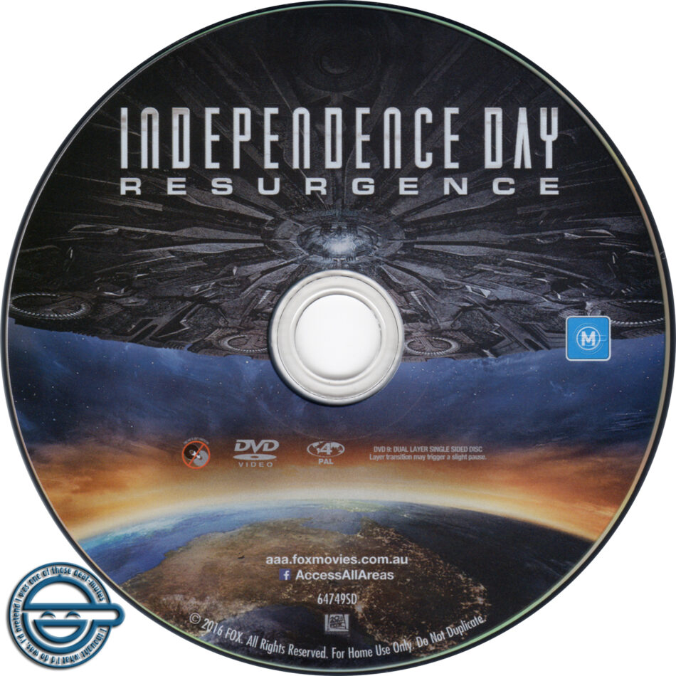 Independence Day Resurgence Dvd Label 2016 R4