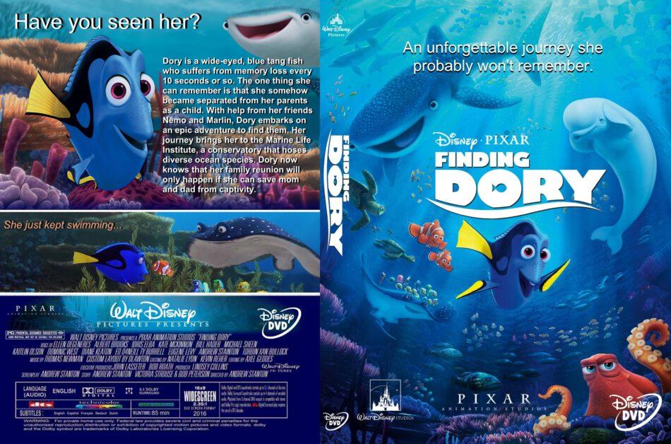 Finding Dory Dvd Cover 2016 R1 Custom