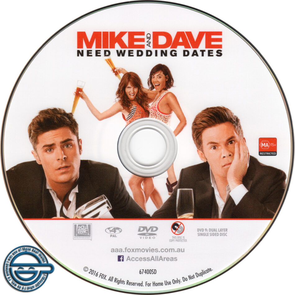 Mike And Dave Need Wedding Dates 2016.Mike And Dave Need Wedding Dates Dvd Label 2016 R4