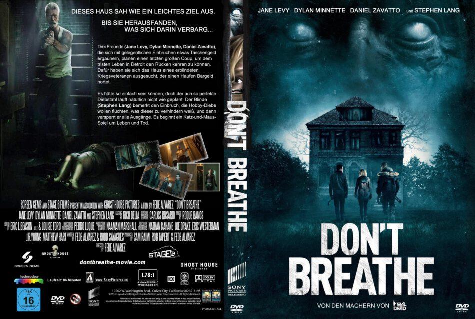 Don't Breathe dvd cover (2016) R2 GERMAN Custom
