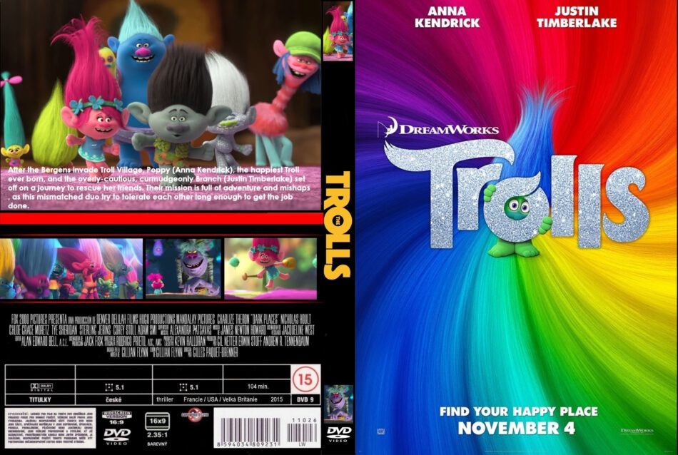 Trolls Dvd Cover Labels 2016 R0 Custom
