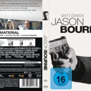 Jason Bourne (2016) R2 German Custom Blu-Ray Cover