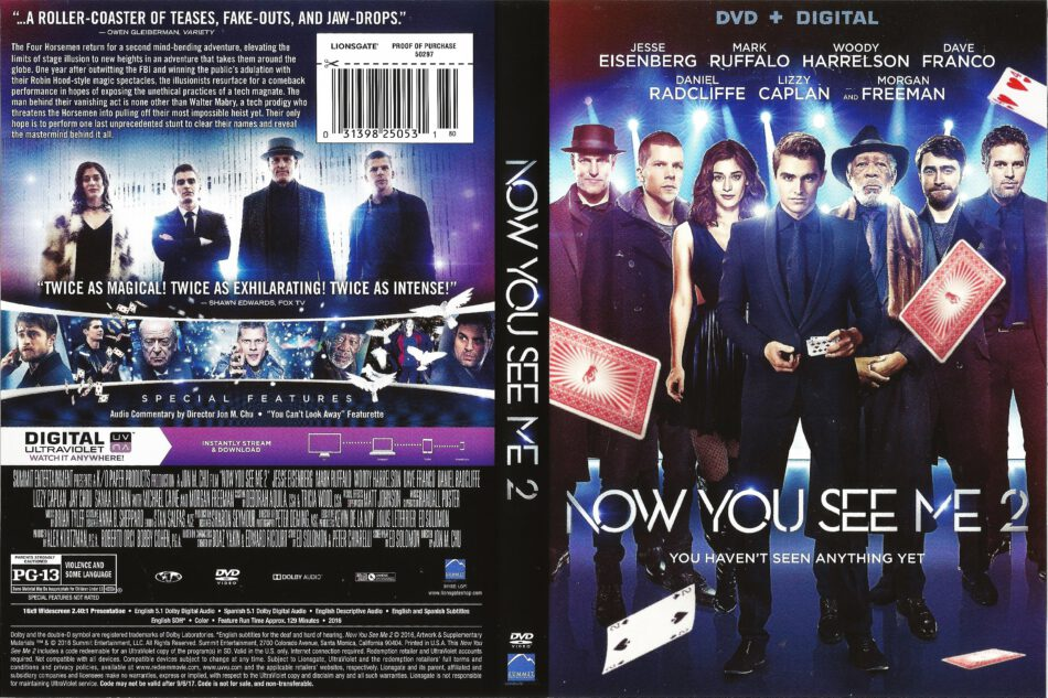 Now You See Me 2 Dvd Cover 2016 R1