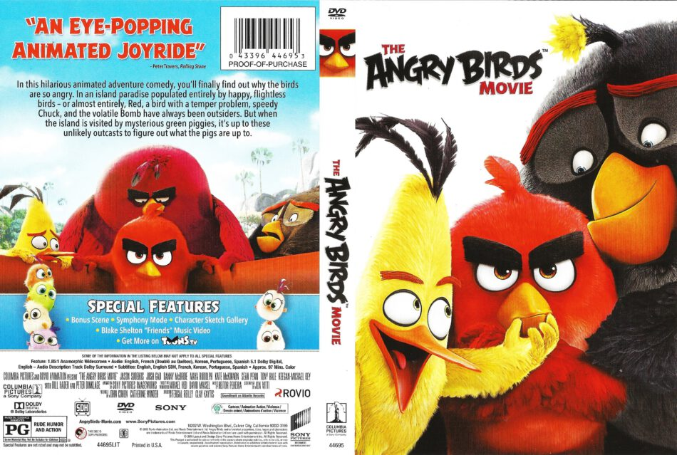 The Angry Birds Movie Dvd Cover 2016 R1