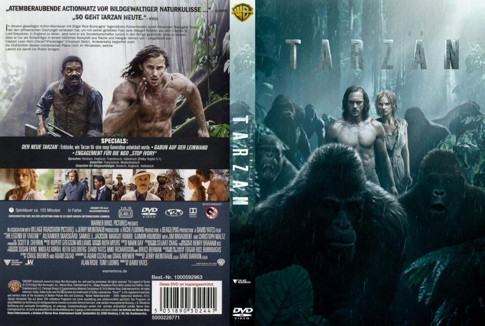 Legend Of Tarzan Dvd Cover Labels 2016 R2 German Custom