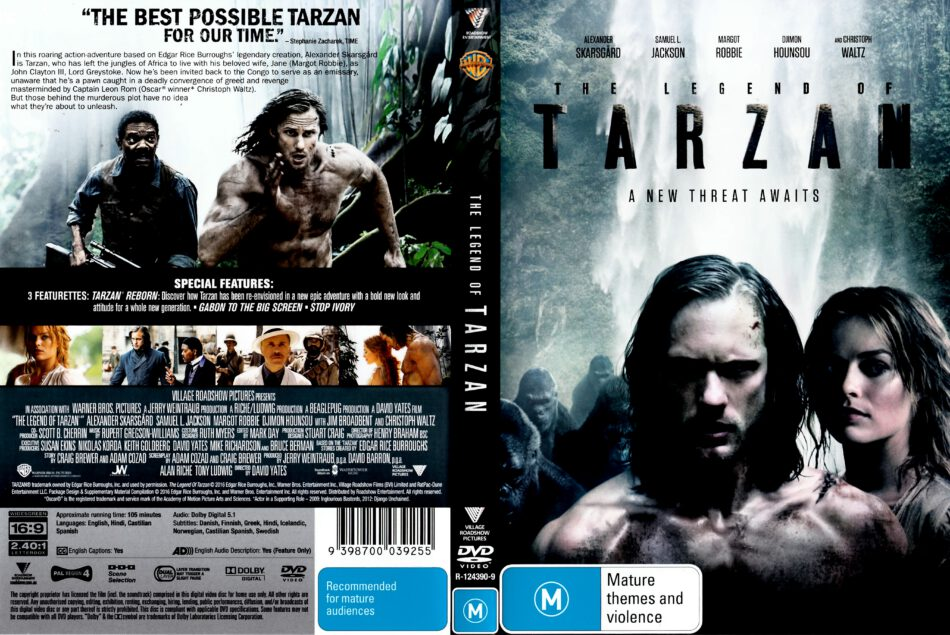 The Legend Of Tarzan Dvd Cover 2016 R4